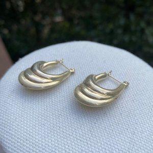 VTG Silver 3-Loop Shaped EARRINGS